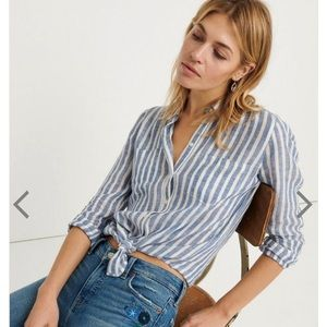 NWT Lucky Brand Ashley button down shirt size L